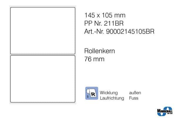 pp etiketten 145x105