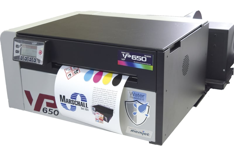 NEU – Farbetikettendrucker VP650