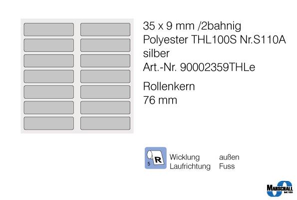 etiketten 35x9 in silber