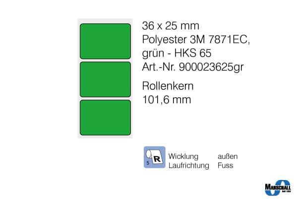 etiketten 36x25 in grün